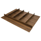 ''Fineline'' Multipurpose Cutlery Tray Insert, Walnut, 27-5/8''W x 20-13/16''D x 1-15/16''H