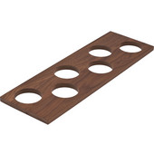 ''Fineline'' Container Holder with 6 Holes, Walnut, 16-11/16''W x 5-7/16''D x 7/16''H