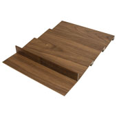 ''Fineline'' Stepped Spice Holder, Walnut, 15-9/16''W x 20-13/16'' x 1''H