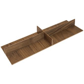 ''Fineline'' Cross Divider, Walnut, 16-11/16''W x 5-7/16''D x 1-4/7''H