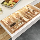 ''Fineline'' Multipurpose Cutlery Tray Insert, Birch, 15-9/16''W x 20-13/16''D x 1-15/16''H