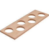 ''Fineline'' Container Holder with 6 Holes, Birch, 16-11/16''W x 5-7/16''D x 7/16''H