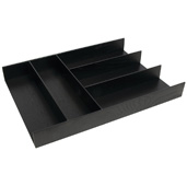 ''Fineline'' Move Kitchen Cutlery Insert, Black Ash, 11-13/16'' W x 16-11/16'' D x 1-15/16'' H