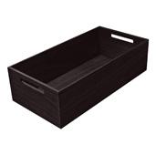 ''Fineline'' Move Kitchen Storage Box 1, Black Ash, 8-5/16'' W x 16-11/16'' D x 4-3/4'' H