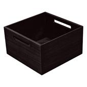 ''Fineline'' Move Kitchen Storage Box 2, Black Ash, 8-5/16'' W x 8-5/16'' D x 4-3/4'' H