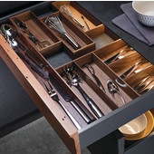 ''Fineline'' Move Kitchen Cutlery Insert, Walnut, 11-13/16''W x 16-11/16''D x 1-15/16''H