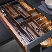 ''Fineline'' Move Kitchen Cutlery Insert, Walnut, 11-13/16''W x 16-11/16''D x 1-15/16''H