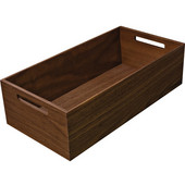 ''Fineline'' Move Kitchen Storage Box 1, Walnut, 8-5/16''W x 16-11/16''D x 4-3/4''H