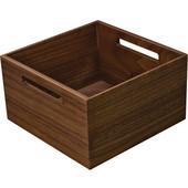 ''Fineline'' Move Kitchen Storage Box 2, Walnut, 8-5/16''W x 8-5/16''D x 4-3/4''H