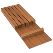 ''Fineline'' Knife Holder Insert, Mahogany, 5-7/16''W x 16-11/16''D