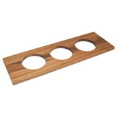 ''Fineline'' Large Container Holder, with 3 Holes, Mahogany, 22''W x 7 1/16''D x 5/8''H