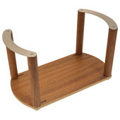 ''Fineline'' Plate Holder, with S/S Handle, Mahogany, 13-3/8'' W x 7-1/16'' D x 7 1/16'' H