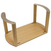 ''Fineline'' Plate Holder, with S/S Handle, White Oak, 13-3/8'' W x 7-1/16'' D x 7 1/16'' H
