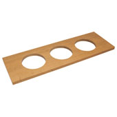 ''Fineline'' Large Container Holder, with 3 Holes, Cherry, 22''W x 7 1/16''D x 5/8''H