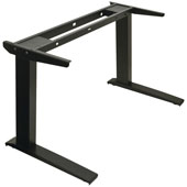 AdjusTableSystem� Conversion Electric System, Straight Table 2-Leg Adjustable Columns and Components, Black, with Programmable Switch, 25-7/8'' - 44-7/8'' (658 - 1138mm) Height, Steel