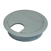 Cable Grommet, Two-Piece, Plastic, Gray, 2-1/2'' Radius