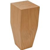 Square Wood Leg, 2 Sided Taper, Cherry, 2-1/2''W x 2-1/2''D x 6''H
