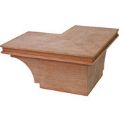 Transitional Cabinet Corner Foot, Cherry, 8-1/2''W x 8-1/2''D x 3-15/16''H