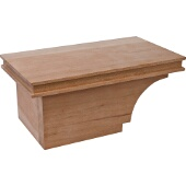 Transitional Cabinet Foot, Left, Cherry, 8-1/2''W x 4-7/8''D x 3-15/16''H