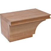 Transitional Cabinet Foot, Left, Cherry, 7-3/4''W x 4-7/8''D x 3-15/16''H