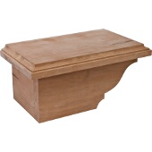 Traditional Cabinet Foot, Left, Cherry, 8-1/2''W x 4-7/8''D x 3-15/16''H