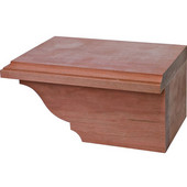 Traditional Cabinet Foot, Right, Cherry, 7-3/4''W x 4-7/8''D x 3-15/16''H
