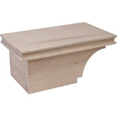 Transitional Cabinet Foot, Left, Maple, 8-1/2''W x 4-7/8''D x 3-15/16''H