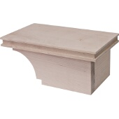 Transitional Cabinet Foot, Right, Maple, 8-1/2''W x 4-7/8''D x 3-15/16''H