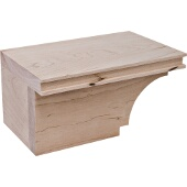 Transitional Cabinet Foot, Left, Maple, 7-3/4''W x 4-7/8''D x 3-15/16''H