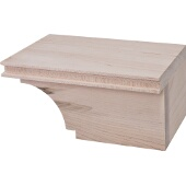 Transitional Cabinet Foot, Right, Maple, 7-3/4''W x 4-7/8''D x 3-15/16''H