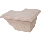 Traditional Cabinet Corner Foot, Maple, 8-1/2''W x 8-1/2''D x 3-15/16''H