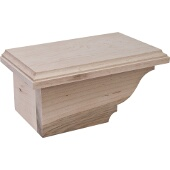 Traditional Cabinet Foot, Left, Maple, 8-1/2''W x 4-7/8''D x 3-15/16''H