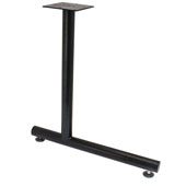 C-Leg Style Side Base, with Glides, for 24''D Tops, Black, Steel, 2 Pcs.