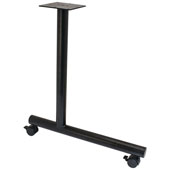 C-Leg Style Side Base, with Casters, for 30''D Tops, Black, Steel, 2 Pcs.