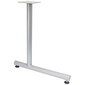 C-Leg Style Side Base, with Glides, for 30''D Tops, Silver, Steel, 2 Pcs.