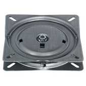 Turntable, Spring Loaded, 90 Degree Rotation, 220 lb. load capacity, Steel, Unfinished, 6-11/16''