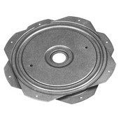 Turntable, 360 Degree Rotation, 260 lb. load capacity, Steel, Unfinished, 10-1/4''