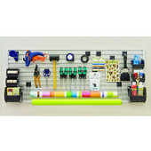 Omni Track Ready Pack Work/Craft Bench Kit, with Hooks, Storage Bin and Edge Profile