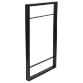 YouK Ladder Jet Black Customizable Open Shelving System, 12-5/8'' D x 35-5/8'' H