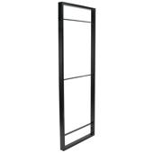 YouK Ladder Jet Black Customizable Open Shelving System, 12-5/8'' D x 87'' H