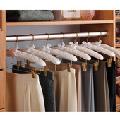''Synergy'' Collection Wardrobe Rail with Supports, Anodized Aluminum, Available in Numerous Lengths & Finishes