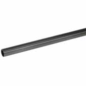 Synergy Elite Round Wardrobe Rail, w/ Protective Insert on Top & Supports, Slate, 908mm (35-3/4''), per piece