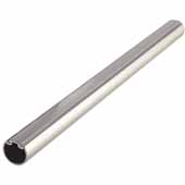 Synergy Elite Round Wardrobe Rail, w/ Protective Insert on Top & Supports, Matt Aluminum, 451mm (17-3/4''), per piece