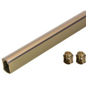 Signature Wardrobe Tube, w/ Protective Cap & Supports, Matt Gold, Different Lengths Available