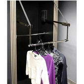 Extended Electric Wardrobe Lift, 110V, 29'' - 48'', 70 lbs. Weight Capacity, Steel, Chrome-Plated Arm, Black Plastic Housing