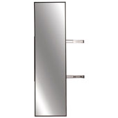 Elite Closet Pull-Out Mirror, Oil Rubbed Bronze Frame, 13-1/8''W x 1-5/16''D x 35''H