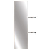 Elite Closet Pull-Out Mirror, Matt Nickel Frame, 13-1/8''W x 1-5/16''D x 47-3/8''H