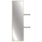 Elite Closet Pull-Out Mirror, Matt Gold Frame, 13-1/8''W x 1-5/16''D x 47-3/8''H