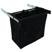 ''Synergy'' Collection 2-Bag Extendable Hamper, w/ 2 Small Bags, in Dark Oil Rubbed Bronze, 24''W x 14''D x 21-1/2''H