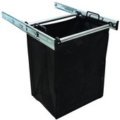 ''Synergy'' Collection 1-Bag Extendable Hamper, w/ 1 Large Bag, in Polished Chrome, 18''W x 14''D x 21-1/2''H
